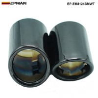 EPMAN -304SS Dual Exhaust Black Chrome Muffler Tips For BMW 5 Serice N20 engine EP-EM8124BMWT