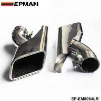 EPMAN Chrome 304 Stainless Steel Exhaust Muffler Tip For Land Rover 05-12 Range Rover diesel EP-EM8064LR
