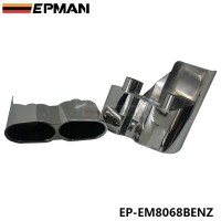 EPMAN 2 Caliber 5.2cm 304 Stainless Steel Chrome Exhaust Muffler Tip For BENZ S CLASS EP-EM8068BENZ
