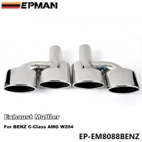 EPMAN 5.0cm 304 Stainless Steel Exhaust Muffler Tip For BENZ C-Class AMG W204 EP-EM8088BENZ