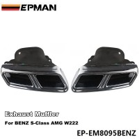 EPMAN Chrome 304 Stainless Steel Exhaust Muffler Tip For BENZ S-Class AMG W222 EP-EM8095BENZ