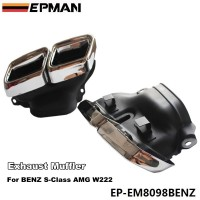 EPMAN Chrome 304 Stainless Steel For Mercedes-Benz AMG S65 S63 E63 Exhaust Muffler Tips W222 W212 W205 R231 W218 EP-EM8098BENZ