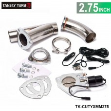 "TANSKY - 2.75"" Electric Cutout/E-Cut Out Valve System W/O Remote for Exhaust Catback/Downpipe TK-CUTYXMM275"