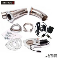 "TANSKY - 2.75"" Electric Exhaust Catback Downpipe Cutout E-Cut Out Valve Switch Control + Remote TK-CUT2Y275"