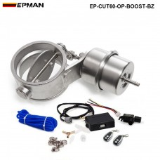 "EPMAN - Exhaust Control Valve Set With Boost Actuator Cutout 2.3"" 60mm Pipe Open STYLE with Wireless Remote Controller Set EP-CUT60-OP-BOOST-BZ"