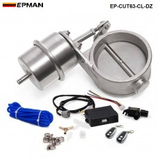 EPMAN  - 2.48'' 63mm Closed Vacuum Exhaust Cutout Valve with Wireless Remote Controller Set EP-CUT63-CL-DZ