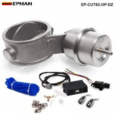 EPMAN - 2.48'' 63mm Open style Vacuum Exhaust Cutout Valve with Wireless Remote Controller Set EP-CUT63-OP-DZ