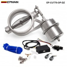 70mm Open style Vacuum Exhaust Cutout Valve with Wireless Remote Controller Set EP-CUT70-OP-DZ