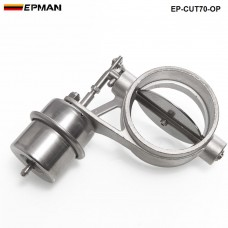 H Q NEW Vacuum Activated Exhaust Cutout / Dump 70MM Open Style Pressure: about 1 BAR TK-CUT70-OP