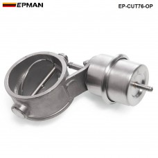 NEW  Vacuum Activated Exhaust Cutout 3'' 76MM Open Style Pressure: about 1 BAR EP-CUT76-OP