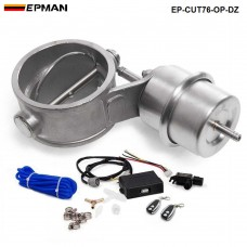 "EPMAN - Exhaust Control Valve Set Cutout 3"" 76mm Pipe OPEN Style With Vacuum Actuator with Wireless Remote Controller Set EP-CUT76-OP-DZ"