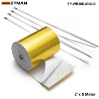 "EPMAN 2""x5 meter Roll SELF ADHESIVE REFLECT A GOLD HEAT WRAP BARRIER Hi Sport EP-WR20DJGOLD"
