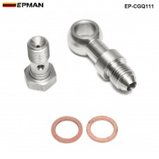 Epman Racing Banjo Bolt Kit M10x1.0 to 4AN Turbo Oil Feed 1.5mm Restrictor For Mitsubishi TD025 TD025L EP-CGQ111