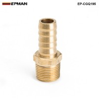 "EPMAN -1/2 inch Hose Barb X 3/8"" NPT - Male Insert Brass Hose Fitting For Fuel pump/Oil cooler For Honda Civic EP-CGQ195"