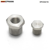 EPMAN Stainless O2 Bung & Plug Reducer Adapter M18 x 1.5 to M12 x 1.25 Thread For Nissan Silvia S13 S14 SR20DET Exhaust EPCGQ116