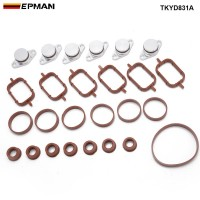 EPMAN 6 x 22mm Diesel Swirl Blanks Flaps Repair Delete Kit Removal Repair Kit For BMW 320d 330d 520d 525d 530d Intake Manifold TKYD831A