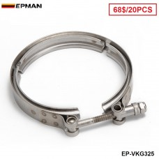 "EPMAN -20PCS/CARTON Universal 3.25""  Stainless Steel Turbo V Band Clamp For Turbo Exhaust Downpipe EP-VKQ325"