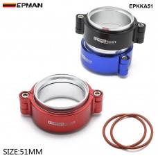 "EPMAN - HD Clamp System Assembly Exhaust V-band Clamp Anodized For 2"" OD Turbo / Intercooler Pipe EPKKA51"