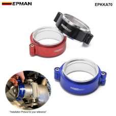 "EPMAN HD Exhaust V-band Clamp W Flange System Assenbly Anodized Hose Clamp Release For 2.75"" OD Turbo Dump Pipe EPKKA70"