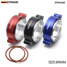 "EPMAN - HD  Exhaust V-band Clamp w Flange System Assembly Anodized Clamp For 3.5"" OD Turbo Dump Intercooler Pipe EPKKA89"
