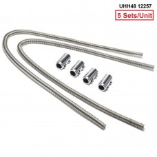 "5 Sets/Unit Zirgo Small Ultra Heater Hose 48"" with 4 End Caps MOQ:5 Sets UHH48 12257"