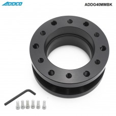 ADDCO Aluminum Alloy 40mm Height Car Steering Wheel Hub Extension Adapter Spacer ADDG40MMBK