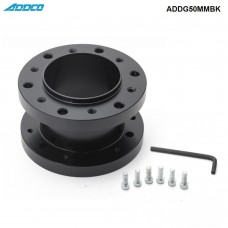 ADDCO Aluminum Alloy 50mm Height Car Steering Wheel Hub Extension Adapter Spacer ADDG50MMBK