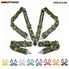 "EPMAN  Universal 4-Point 3""Nylon Strap Harness Safety Camlock Racing Seat Belt EPM-07CAM"