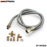 EPMAN -Universal SS Turbo Oil Feed Line For All T3 T4 Fit T3/T4 Super 60 Turbochargers EP-WXB06