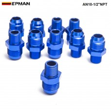 10PCS/LOT  Oil cooler fitting blue,H Q AN10-1/2''NPT