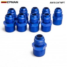 10PCS/LOT Oil cooler fitting blue,H Q AN10-3/4''NPT