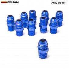 10PCS/LOT  Oil cooler fitting AN10-3/8''NPT (blue,H Q) FITTING AN10-3/8''NPT