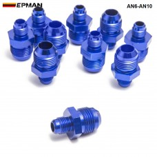 10pcl/unit Hose End Fitting/ Oil cooler fitting for BRAIDED HOSE FUEL OIL WATER (blue,H Q) AN6-AN10