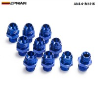 EPMAN -10PCS/LOT AN8 - M18*1.5 Straight Male Oil Cooler Fuel Oil Hose Fitting Adapter AN8-01M1815