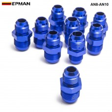 10pcl/unit Hose End Fitting/ Oil cooler fitting for BRAIDED HOSE FUEL OIL WATER (blue,H Q) AN8-AN10