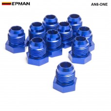 10pcl/unit Oil cooler fitting (blue H Q) AN8-ONE