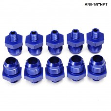 10PCS/LOT  Straight Male Oil Cooler  Fuel Oil Hose Fitting Adapter AN8-1/8''NPT