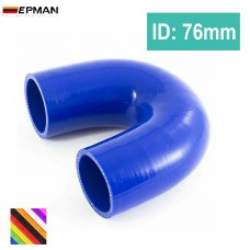 "10pcs/unit Universal 3"" Silicone 180 degree connector elbow Coupler Hose TK-SS180RS76"